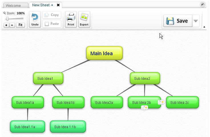without an account you begin brainstorming straight away and are able to print or save your mind map as a jpeg or png sign up for a free account and you - Create Mind Map Free