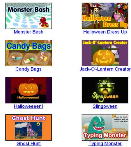 you the pleasure of shopping at witchmart whacking a monster playing pingpong with ghouls or typing with ghosts primary games halloween fun lets you - Primarygameshalloween
