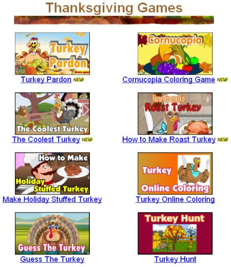 Primary Games Has A Great Thanksgiving Section Thatll Make Kids Thankful They Dropped By Word Searchespuzzles Cornucopia Coloring Book
