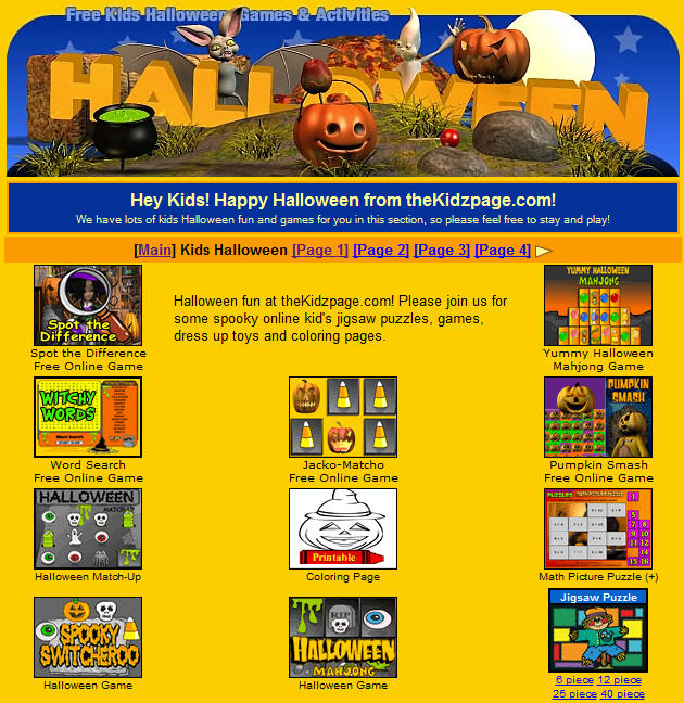 on the kidzpage there are 23 online halloween games - Halloween Kid Games Online