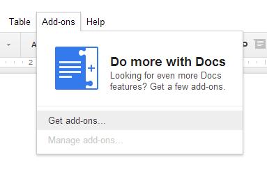 google-docs-addons